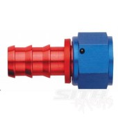 AQP Straight Socketless Hose Fitting; Red/Blue Anodized Aluminum (multi-size)