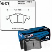 Hawk Performance HPS Rear Brake Pads, 605mm HB478F.605